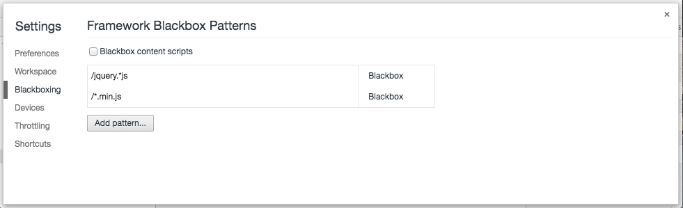 Chrome - Blackbox settings